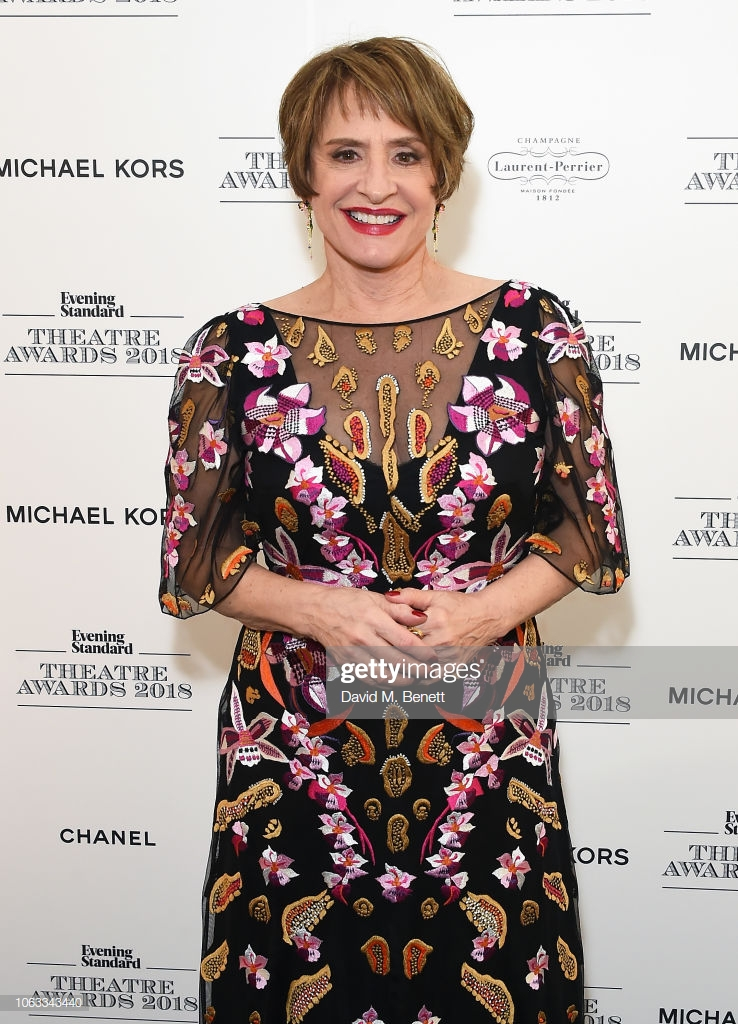 LONDON, ENGLAND - NOVEMBER 18:  Patti LuPone poses backstage at The 64th Evening Standard Theatre Awards at the Theatre Royal, Drury Lane, on November 18, 2018 in London, England.  (Photo by David M. Benett/Dave Benett/Getty Images)